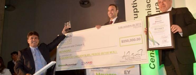 Movagro S.A. de C.V., Ganador del Cleantech Challenge México 2013