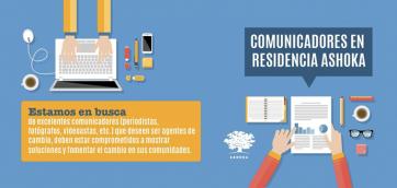 ¡Participa! Comunicadores en Residencia Ashoka