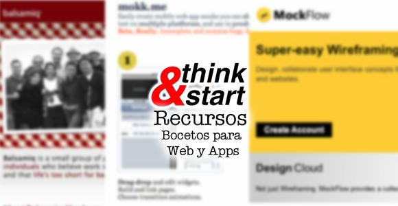 Recursos para emprendedores: Bocetos para web y apps